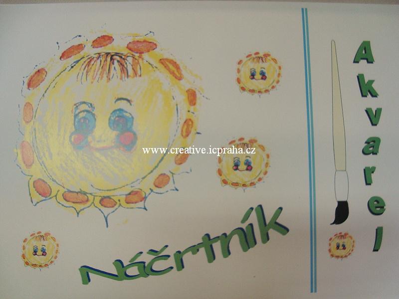 skicák /náčrtník A3 na akvarel - 20 listů 200g/m2