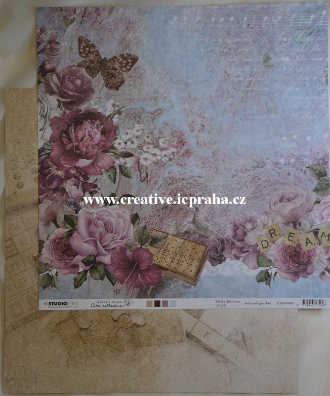 StudioLight - Jenine´s- NR.7 Růže/Motýl30,5x30,5cm