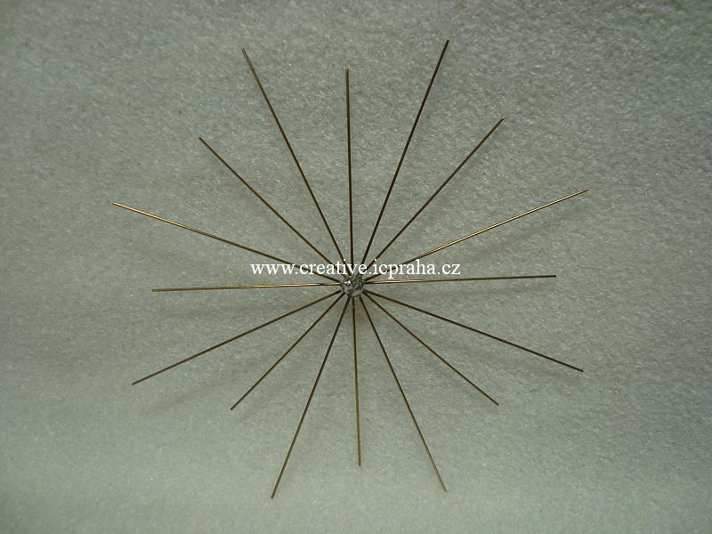 drát. hvězda pro korálk. ozdoby pr.8/10cm K6147038
