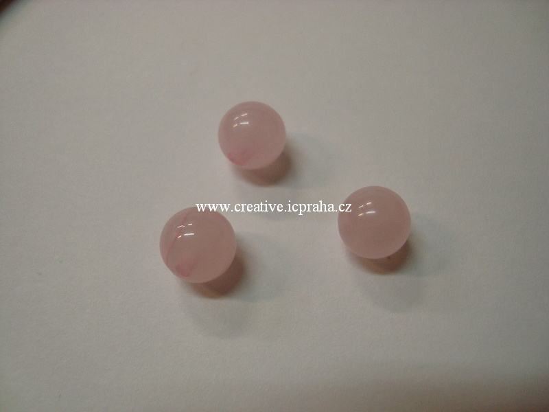minerály kulička 8mm Růženín bal.10ks