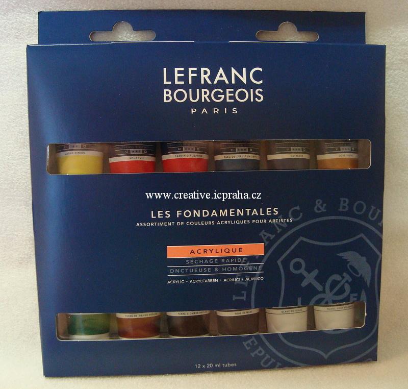 Lefranc Bouergeois - sada akryl barev 12x20ml