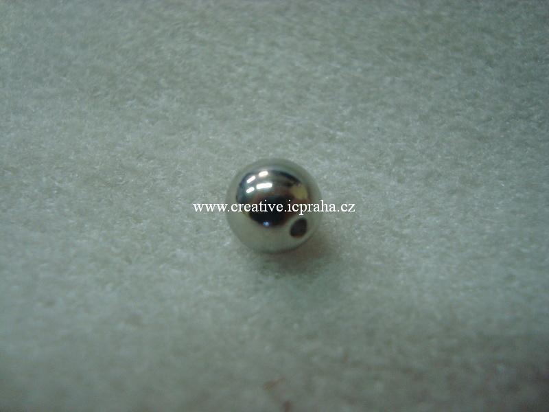 kulička 8mm postříbřená