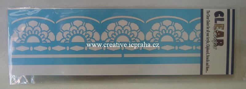 šablona CLSc - bordura květy 30x7,5cm 124660