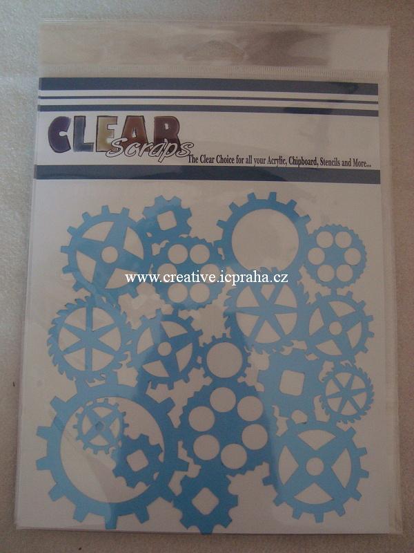 šablona CLSc - kolečka ozubená 15x15cm 275961