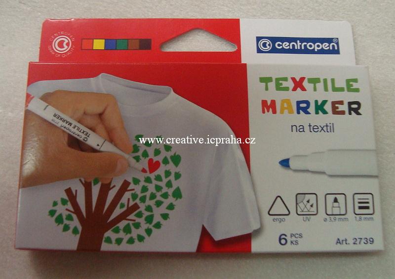 CENTROPEN popisovač na textil - sada 6 barev