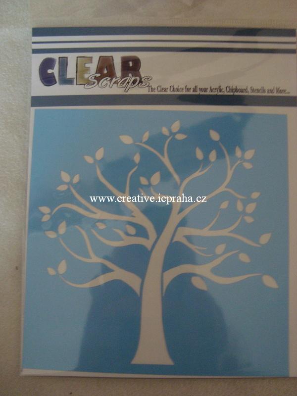 šablona CLSc - rodinný strom 15x15cm 127143