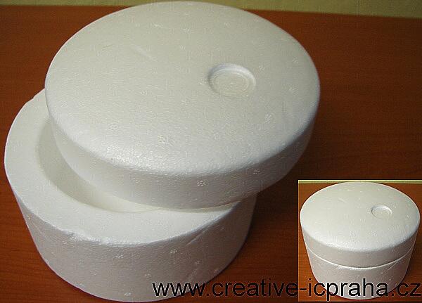 polystyren - krabička kulatá prům 14cm