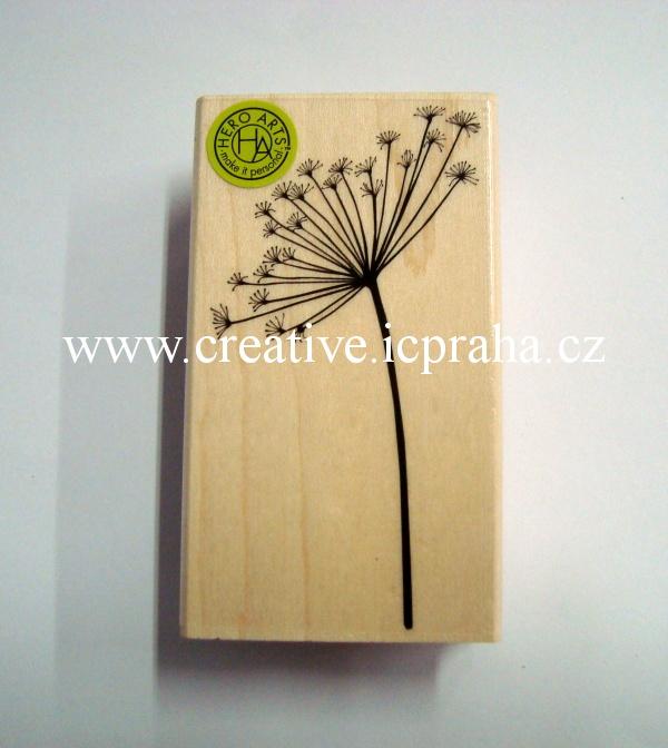 raz. dřevěné Hero Arts - Květenství 7,5x4,5cm
