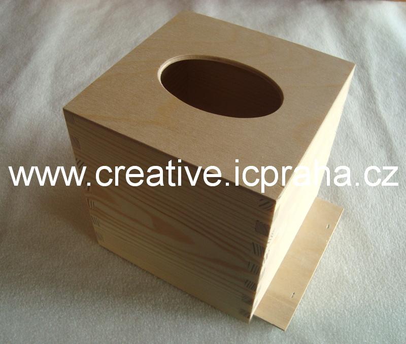 krabička na kapesníky 13x13x13.5cm