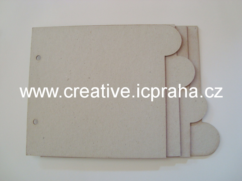 Minialbum - 4listy - obdelník 15,3x13cm