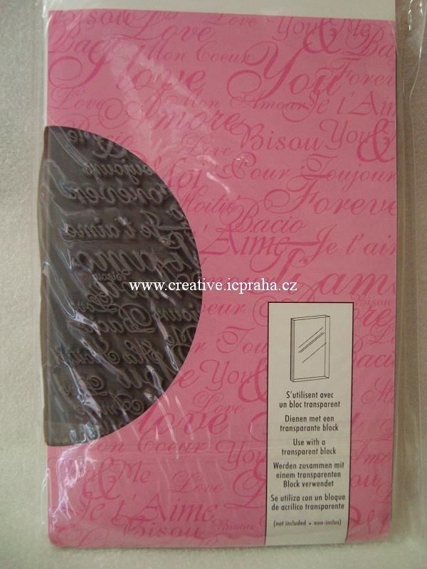 razítka Cling Artemio - Láska 14,5x9,5cm