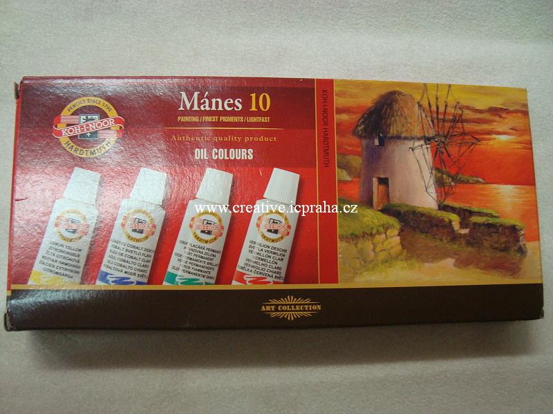olejové barvy Mánes - sada 10x16ml Koh