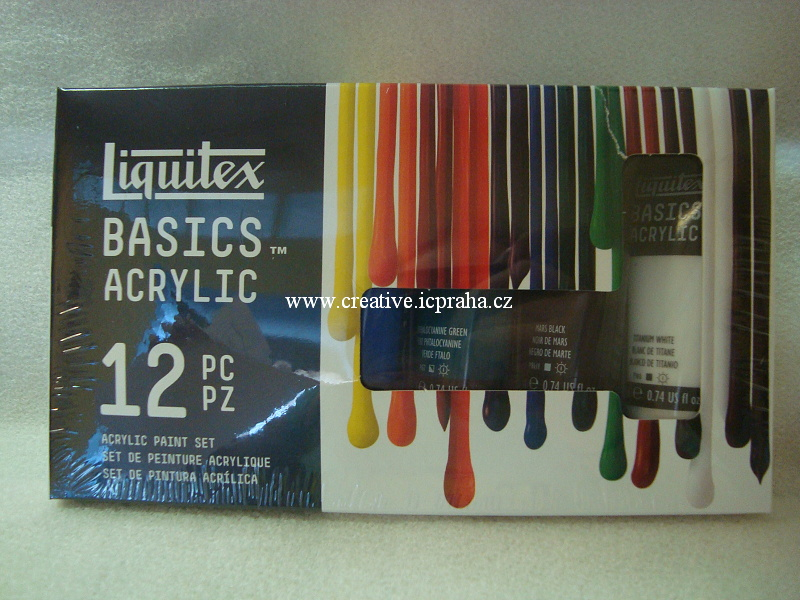Liquitex Basic - sada akryl barev 12x22ml