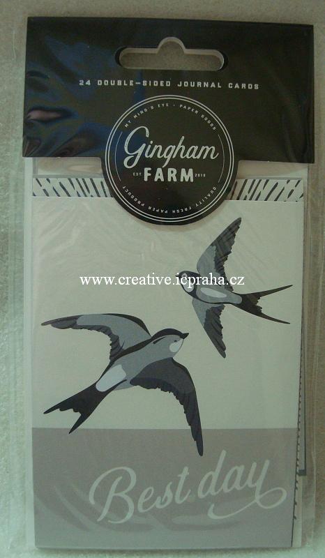 My Mind's Eye - Gingham Farm Journal Cards 24ks