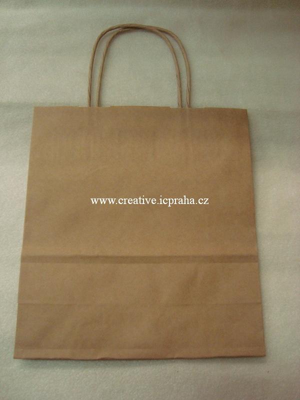 papírová taška 19x8x21cm kraft