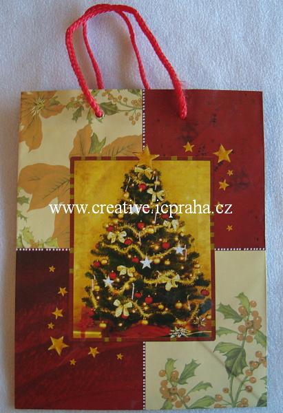 dárková vánoční taška stř. stromek