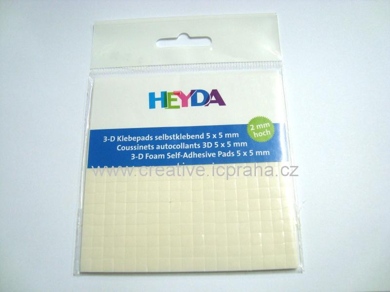 Čtverečky 3D samolep 2mm He4889002 (5x5x2mm)