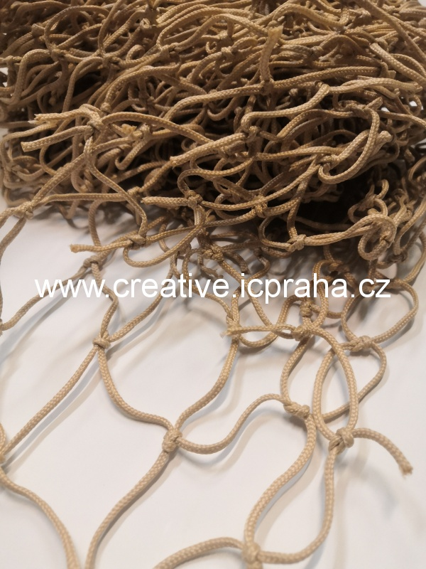 síťka uzlová 3x1m béžová (oko 5cm) polypropylen