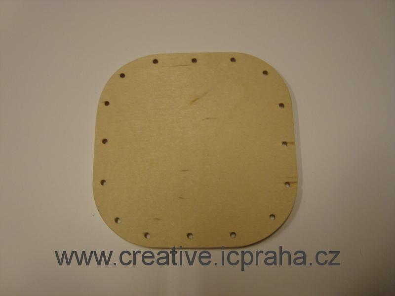 dno čtverec 10x10cm / překližka