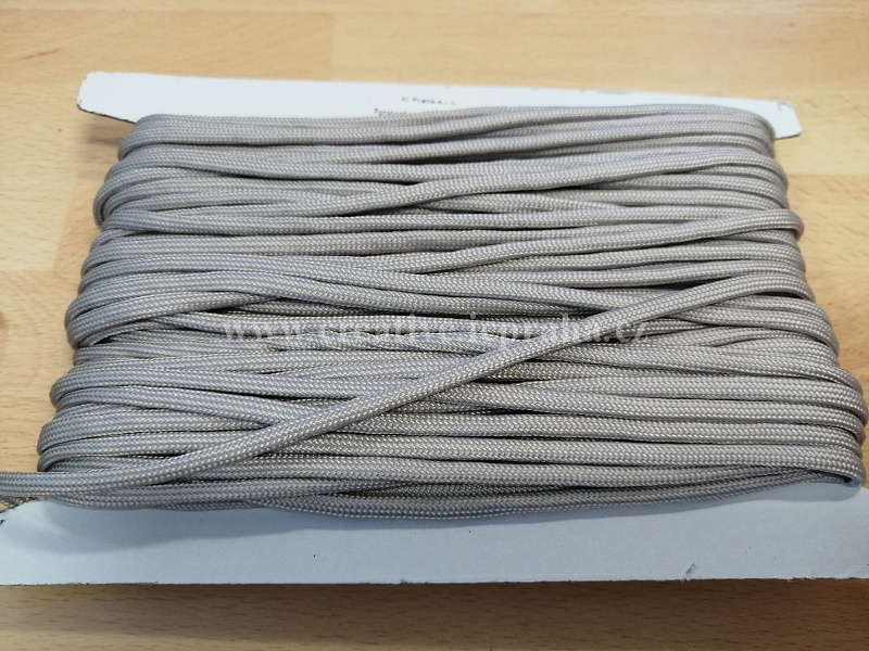 paracord 4mm šedá