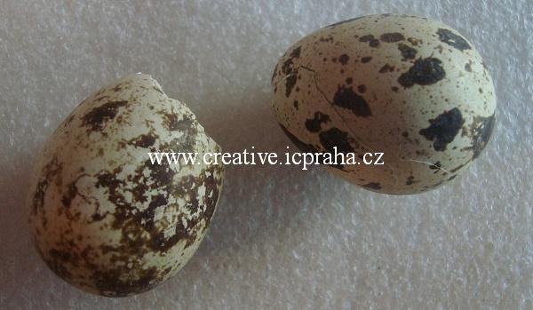 vejce - skořápka pravá kropenatá (křepelčí)