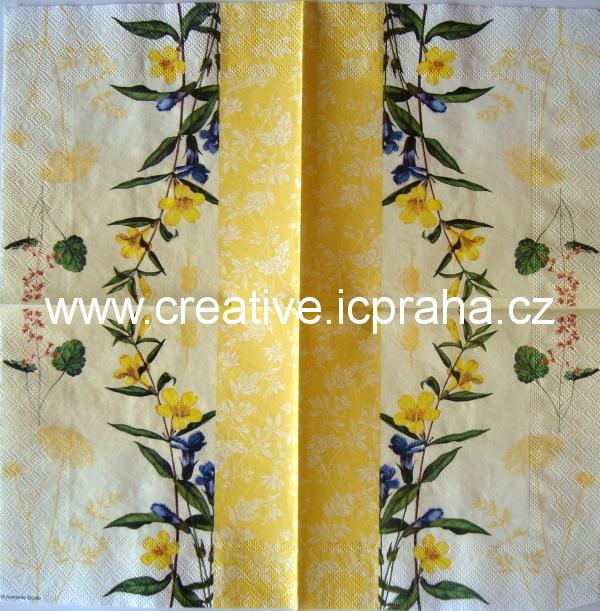 květy luční AMB 5081 na žlutém