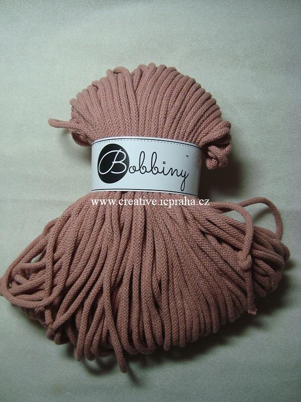 Bobbiny šňůry 100m/5mm - růžová blush