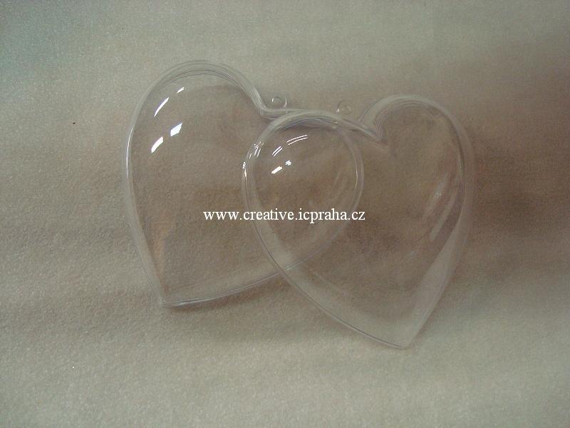 plast - srdce k zavěšení 10x10cm