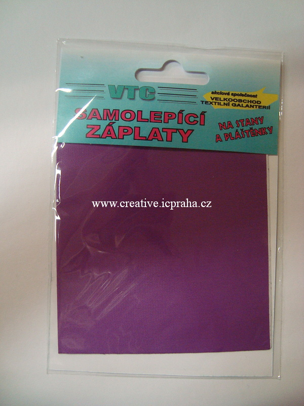 samolep. záplata 10x20cm - fialová