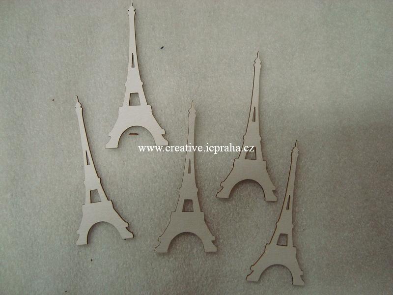 výřezy Eiffelovka 5ks -  v.7 cm