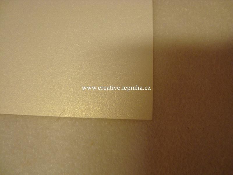 metalický papír 120g/m2 - 21,3x30cm - šampaň