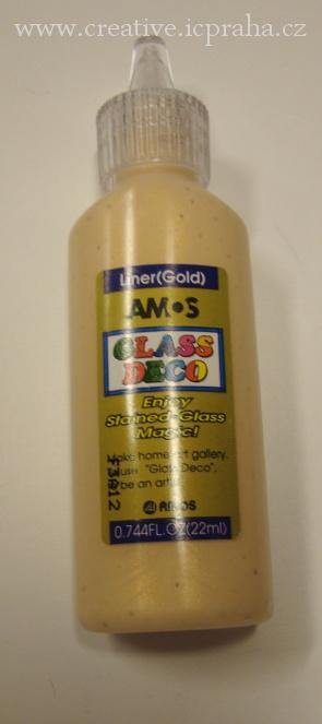 slup.barva AMOS 22ml kontura zlatá