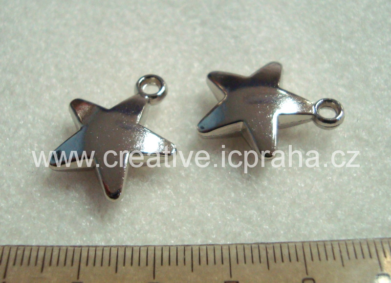 Přívěsek Hvězda plná 23mm kov Pl