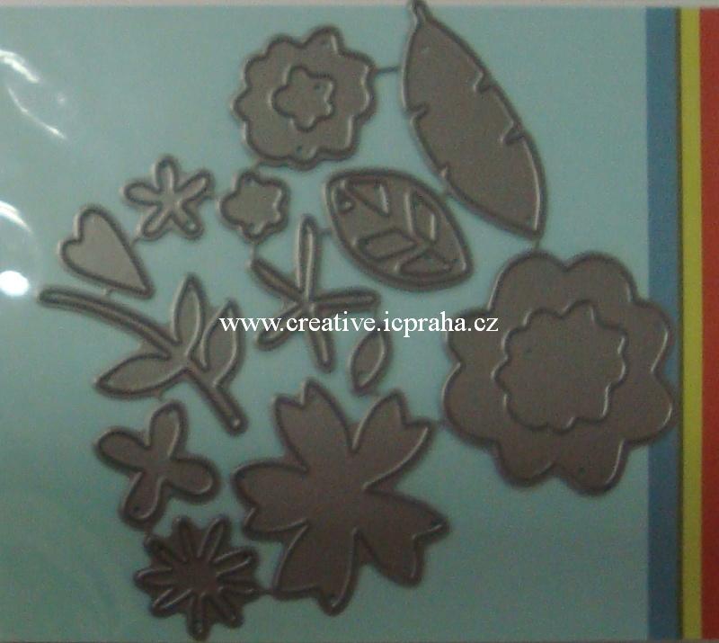 vyřezávací šablona  P.Smooches - Květiny FBD121