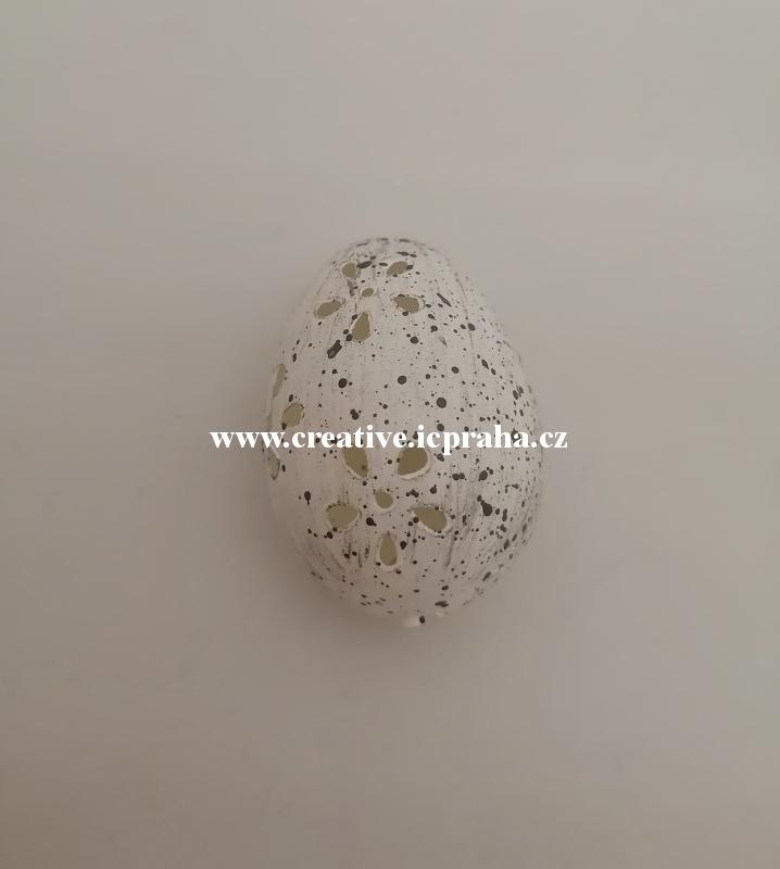 vejce - bílá dírkovaná 4cm