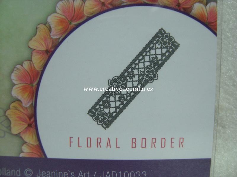 vyřezávací šablona  Vintage Flower - Bordura kvítk