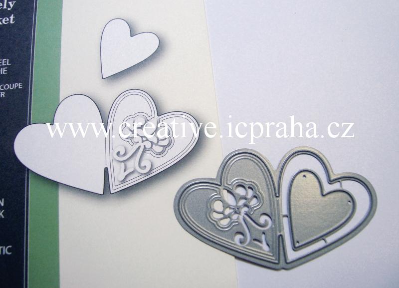 vyřezávací šablona  Poppy - Srdce - medailonek