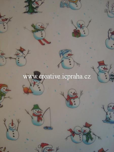 transp.papír 23x33cm - sněhuláci  89402/SLEVA