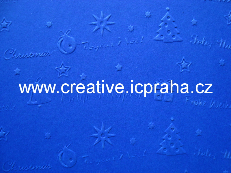 ražený papír 220g/m2 23x33cm - vánoční  6022309