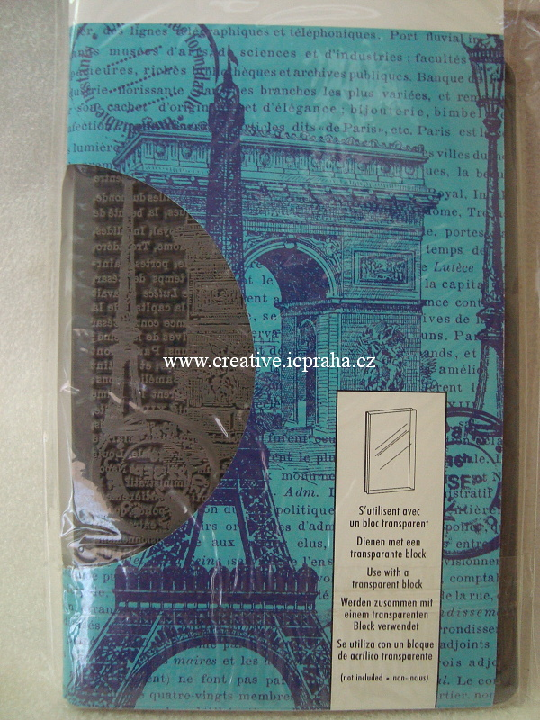 razítka Cling Artemio - Paris 14,5x9,5cm