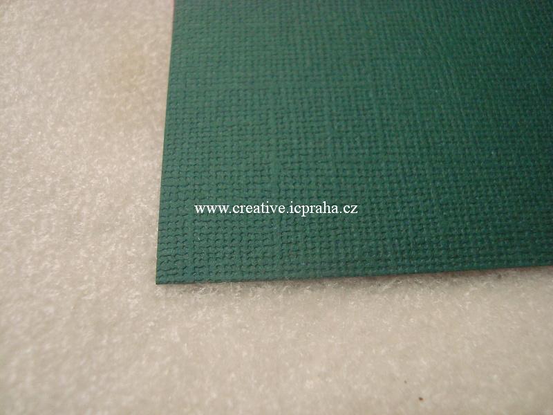 papír 30x30cm struktura 220g/m2 - Zelený tm.