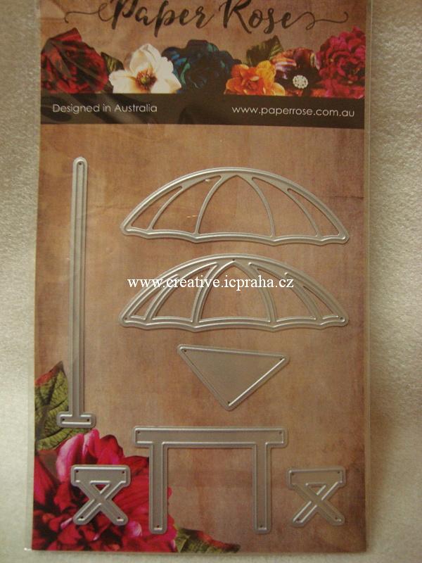 vyřezávací šablona  Paperrose - Deštníky