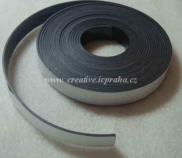 magnetická páska samolep.- š.1,2cm/1m