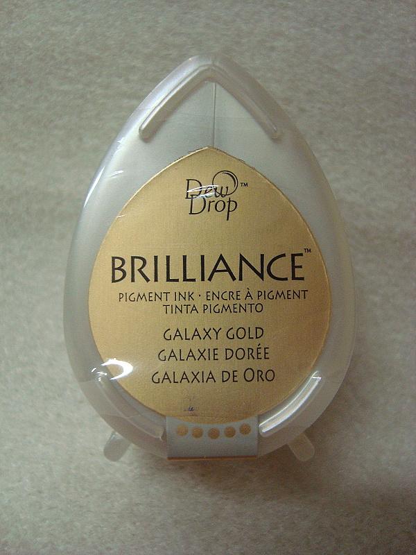 Brilliance slza - pigmentový ink.zlatý
