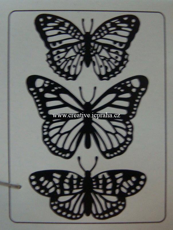 embos.kapsa Motýli trio 1219-405
