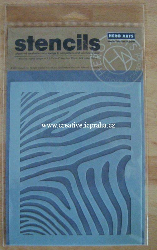 šablona Hero Arts - Zebra SA014