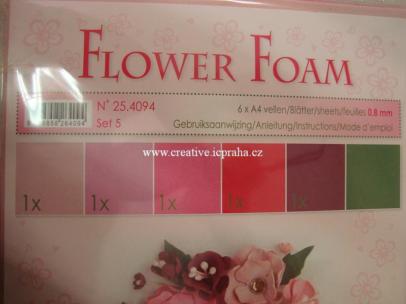 pryž na výrobu květin A4 - 6ks sada č.1 pastel