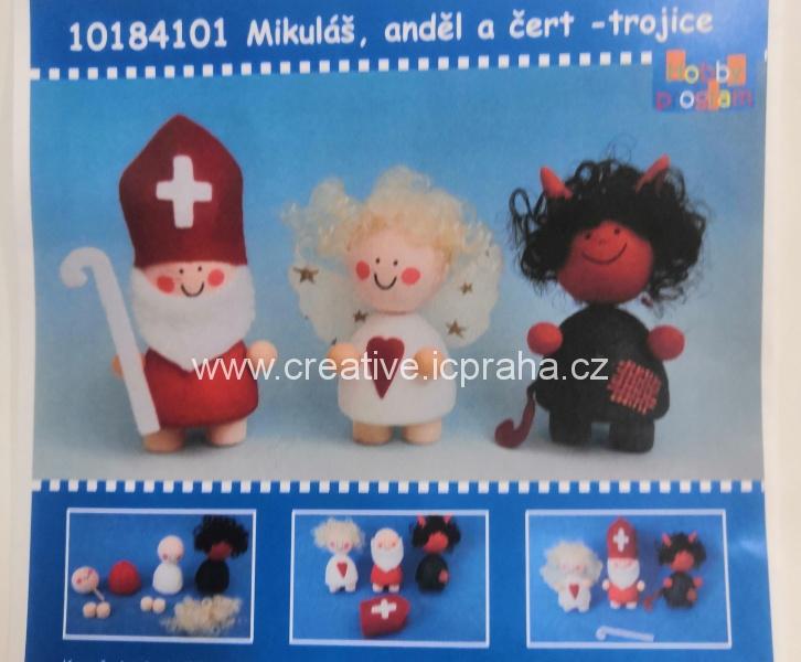 skládačka Mikuláš, anděl, čert bal. 3ks 10184101