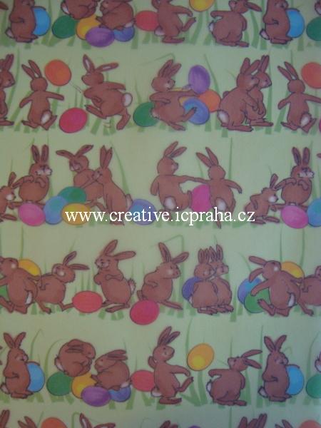 transp.papír A4 - zajíčci/SLEVA