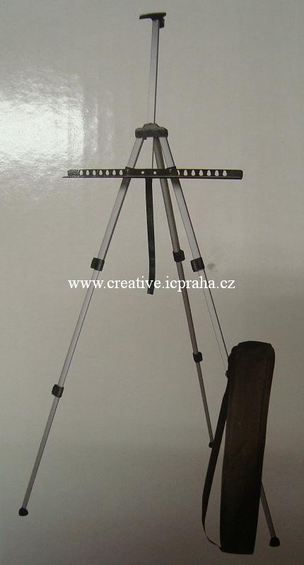 stojan malířský - Alu + vak max.výška plátna 84cm